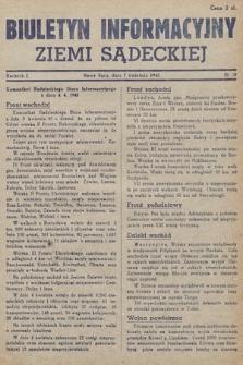 Biuletyn Informacyjny Ziemi Sądeckiej. 1945, nr30
