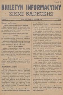 Biuletyn Informacyjny Ziemi Sądeckiej. 1945, nr33