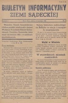 Biuletyn Informacyjny Ziemi Sądeckiej. 1945, nr36
