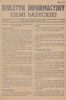 Biuletyn Informacyjny Ziemi Sądeckiej. 1945, nr38