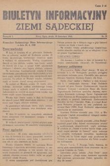 Biuletyn Informacyjny Ziemi Sądeckiej. 1945, nr39