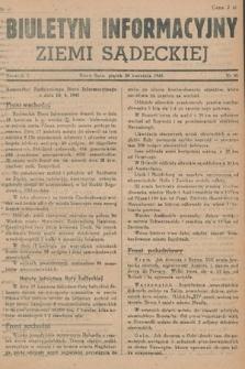 Biuletyn Informacyjny Ziemi Sądeckiej. 1945, nr41