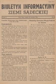Biuletyn Informacyjny Ziemi Sądeckiej. 1945, nr42