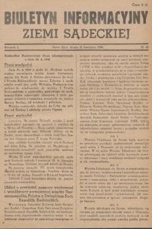 Biuletyn Informacyjny Ziemi Sądeckiej. 1945, nr45