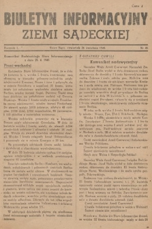 Biuletyn Informacyjny Ziemi Sądeckiej. 1945, nr46