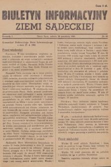 Biuletyn Informacyjny Ziemi Sądeckiej. 1945, nr48