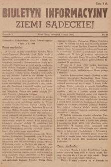 Biuletyn Informacyjny Ziemi Sądeckiej. 1945, nr49