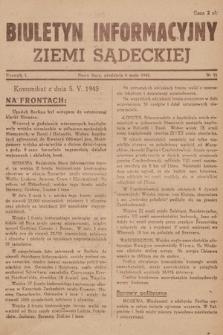 Biuletyn Informacyjny Ziemi Sądeckiej. 1945, nr51