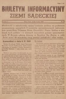 Biuletyn Informacyjny Ziemi Sądeckiej. 1945, nr53