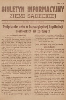 Biuletyn Informacyjny Ziemi Sądeckiej. 1945, nr54