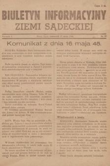 Biuletyn Informacyjny Ziemi Sądeckiej. 1945, nr59