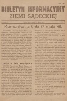 Biuletyn Informacyjny Ziemi Sądeckiej. 1945, nr60