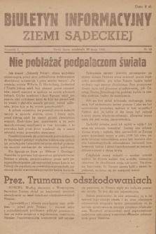 Biuletyn Informacyjny Ziemi Sądeckiej. 1945, nr62