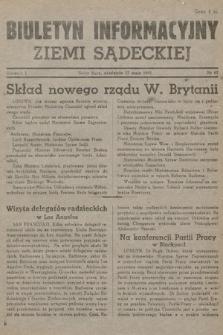 Biuletyn Informacyjny Ziemi Sądeckiej. 1945, nr67