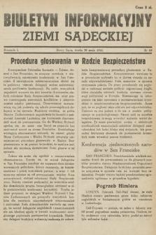 Biuletyn Informacyjny Ziemi Sądeckiej. 1945, nr69