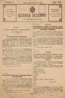 Dziennik Urzędowy C. K. Starostwa w Tarnowie. 1899