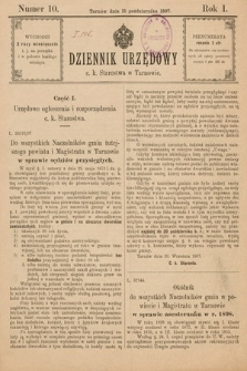 Dziennik Urzędowy C. K. Starostwa w Tarnowie. 1897, nr10