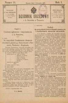 Dziennik Urzędowy C. K. Starostwa w Tarnowie. 1897, nr11