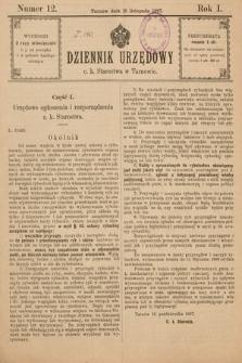 Dziennik Urzędowy C. K. Starostwa w Tarnowie. 1897, nr12