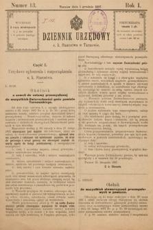 Dziennik Urzędowy C. K. Starostwa w Tarnowie. 1897, nr13