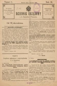 Dziennik Urzędowy C. K. Starostwa w Tarnowie. 1898, nr1