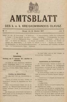 Amtsblatt des Kreises Olkusz. 1917, nr11
