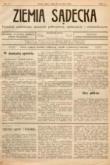 Ziemia Sądecka : tygodnik poświęcony sprawom politycznym, społecznym iekonomicznym. 1913, nr7
