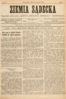 Ziemia Sądecka : tygodnik poświęcony sprawom politycznym, społecznym iekonomicznym. 1913, nr21