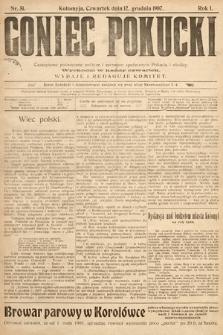 Goniec Pokucki : czasopismo poświęcone polityce isprawom społecznym Pokucia iokolicy. 1907, nr51