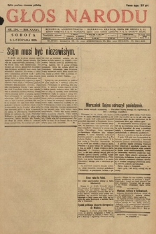 Głos Narodu. 1929, nr294 [po konfiskacie]