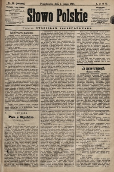Słowo Polskie. 1898, nr32 (poranny)