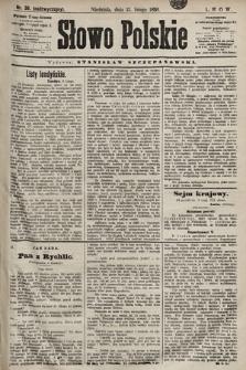 Słowo Polskie. 1898, nr38 (nadzwyczajny)