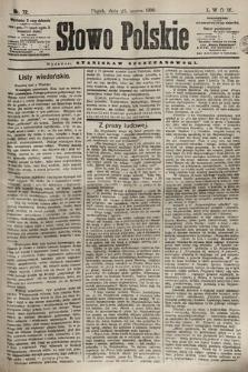 Słowo Polskie. 1898, nr72