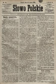Słowo Polskie. 1898, nr73 (poranny)