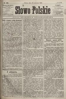 Słowo Polskie. 1898, nr203