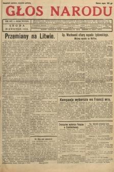 Głos Narodu. 1932, nr107
