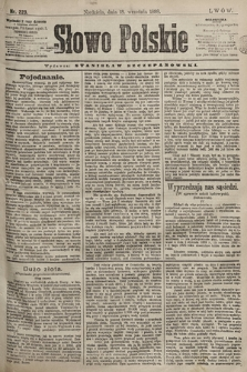Słowo Polskie. 1898, nr223