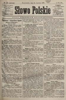 Słowo Polskie. 1898, nr224 (poranny)