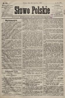 Słowo Polskie. 1898, nr228