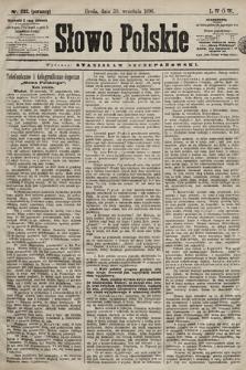 Słowo Polskie. 1898, nr232 (poranny)