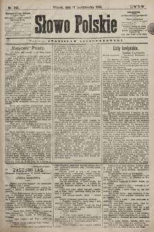 Słowo Polskie. 1898, nr242