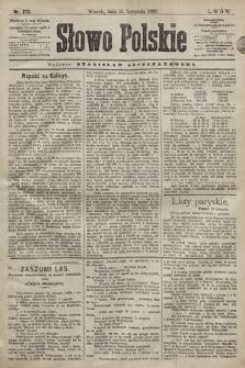 Słowo Polskie. 1898, nr272