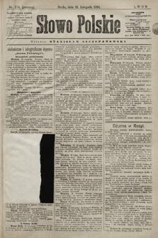 Słowo Polskie. 1898, nr274 (poranny)