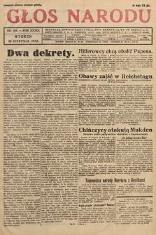 Głos Narodu. 1932, nr234
