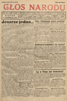 Głos Narodu. 1932, nr272