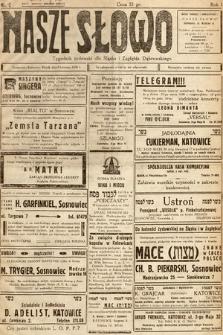 Nasze Słowo : tygodnik żydowski dla Śląska i Zagłębia Dąbrowskiego. 1938, nr6