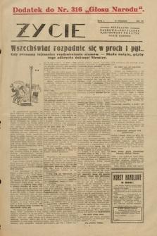 """Życie : bezpłatny naukowo-popularny ilustrowany dodatek Głosu Narodu : dodatek do nr316 """"Głosu Narodu"""". 1928, nr 27"""