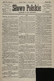 Słowo Polskie. 1901, nr7 (poranny)