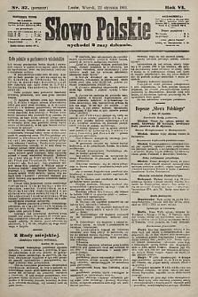 Słowo Polskie. 1901, nr37 (poranny)