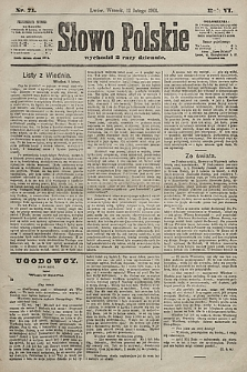 Słowo Polskie. 1901, nr71